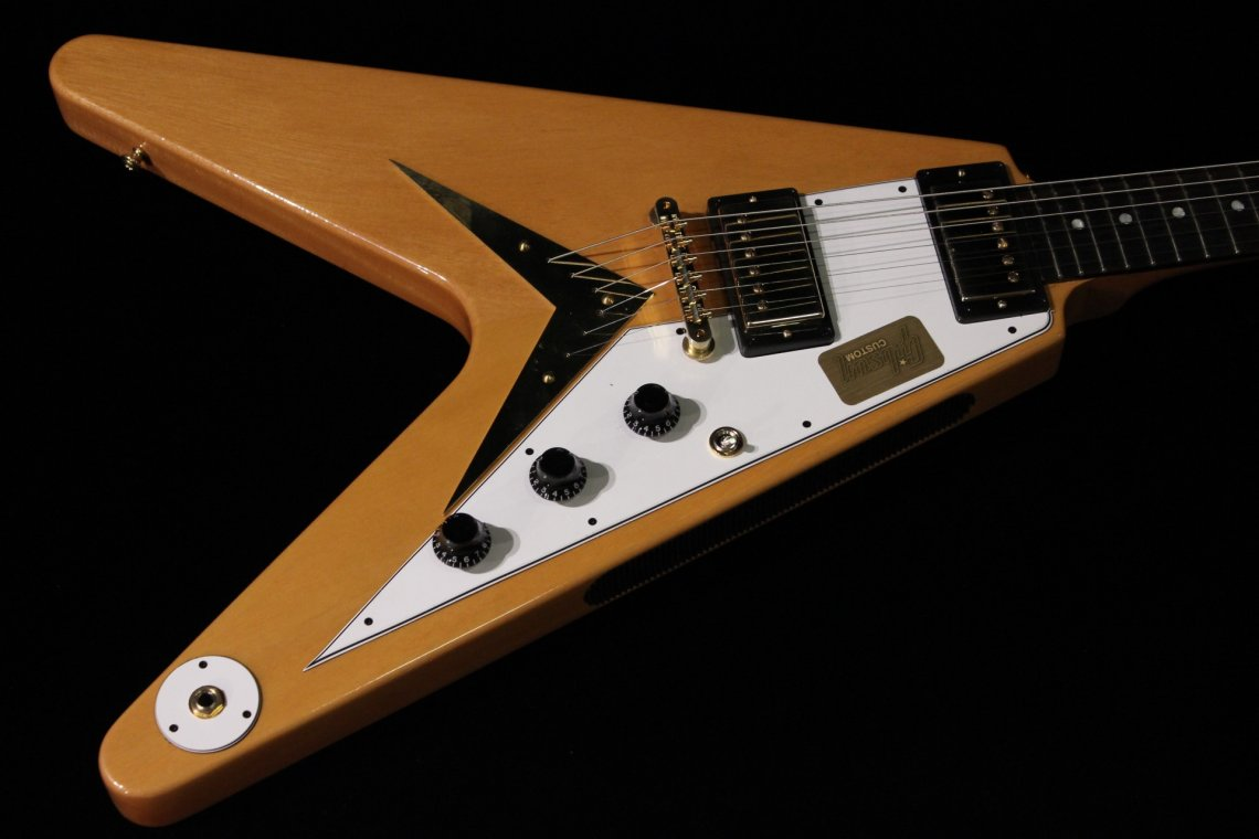 gibson custom 1959 mahogany flying v vos antique natural sn 942410 gino guitars. Black Bedroom Furniture Sets. Home Design Ideas