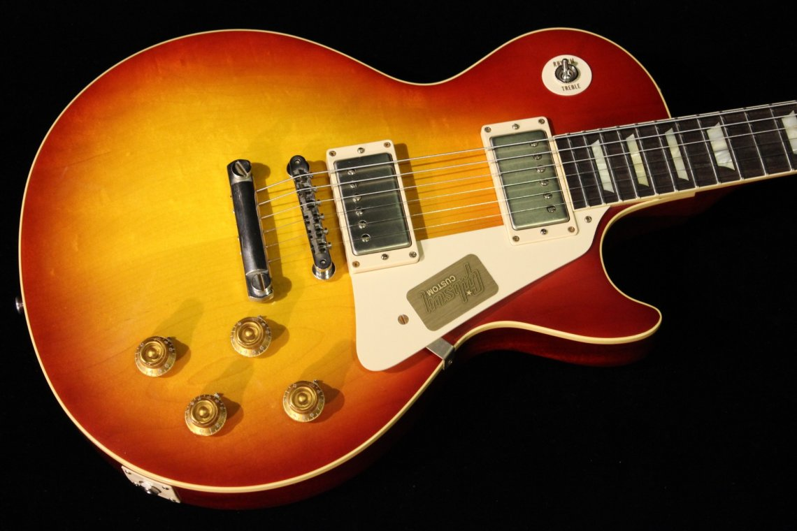 gibson custom 1958 les paul reissue 2014 vos washed cherry sn 841667 gino guitars. Black Bedroom Furniture Sets. Home Design Ideas