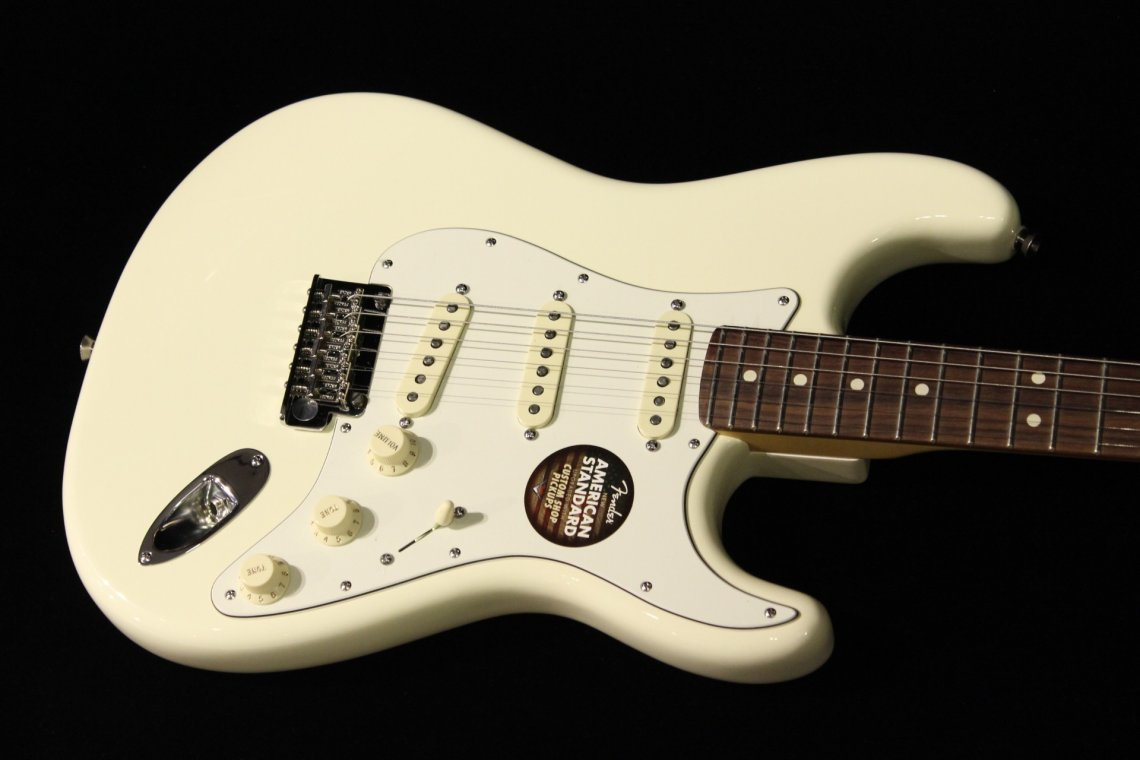 Fender American Standard Stratocaster Olympic White Gino