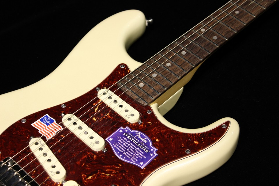 Fender American Deluxe Stratocaster Olympic Pearl Gino