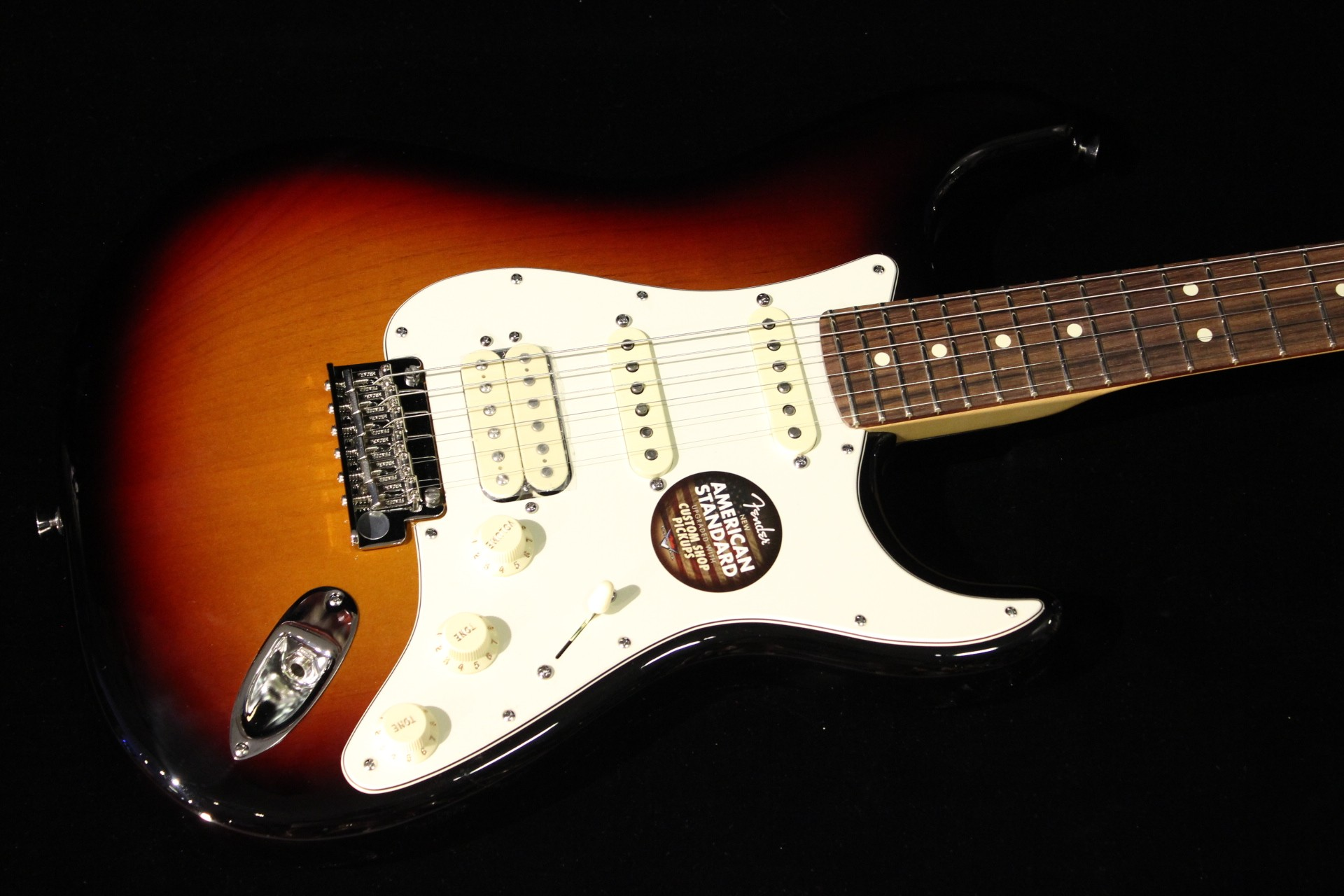 fender american standard stratocaster hss 3 color sunburst gino guitars. Black Bedroom Furniture Sets. Home Design Ideas