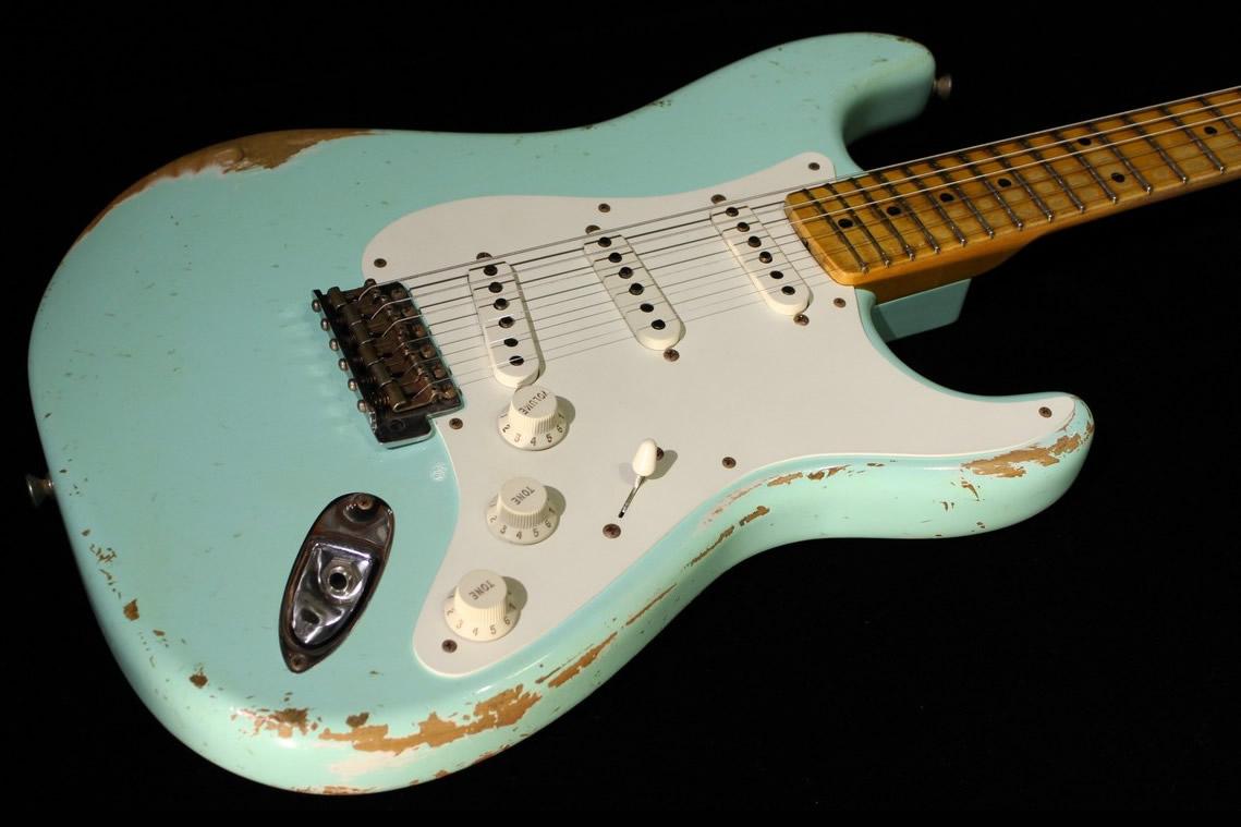 Fender Custom 1958 Stratocaster Heavy Relic Surf Green Sn