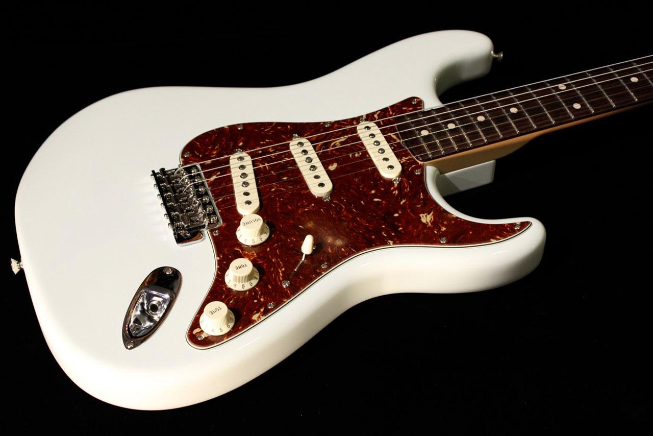 fender custom 1961 stratocaster nos olympic white sn r71713 gino guitars. Black Bedroom Furniture Sets. Home Design Ideas