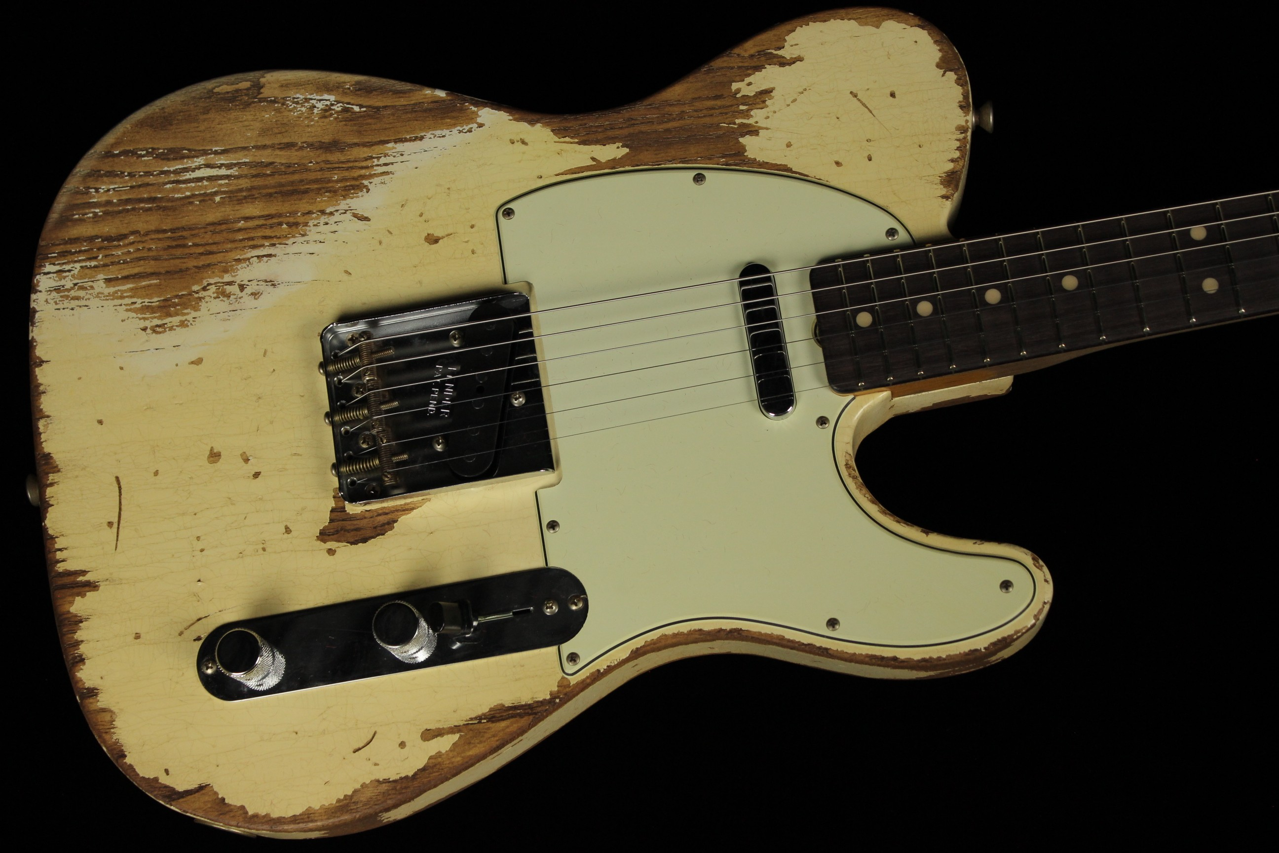 fender custom 1963 telecaster super heavy relic limited super faded aged olympic white sn. Black Bedroom Furniture Sets. Home Design Ideas