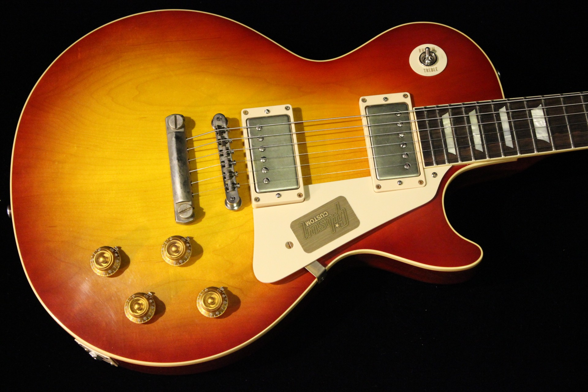 gibson custom 1958 les paul reissue 2014 vos washed cherry. Black Bedroom Furniture Sets. Home Design Ideas