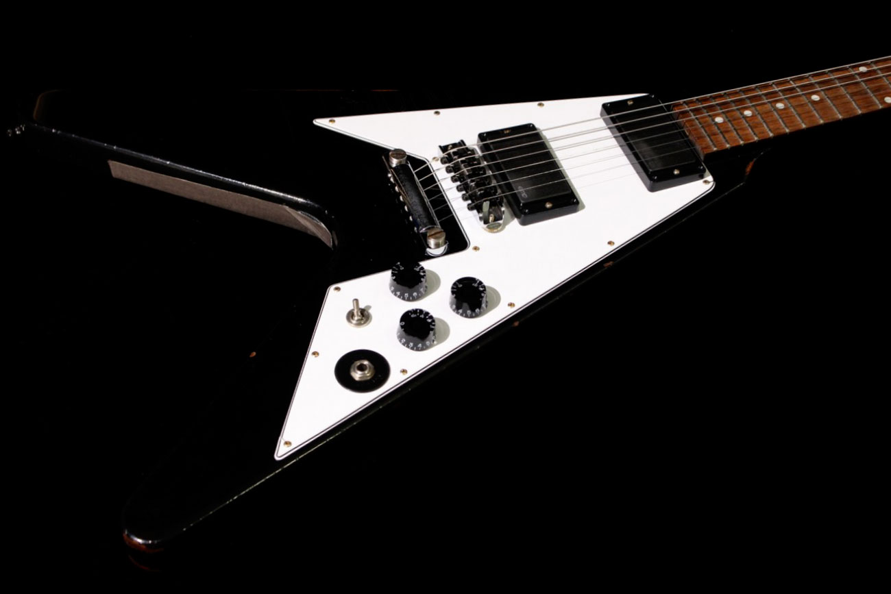 Gibson Custom Kirk Hammett Flying V Aged Ebony (SN: 014 ...