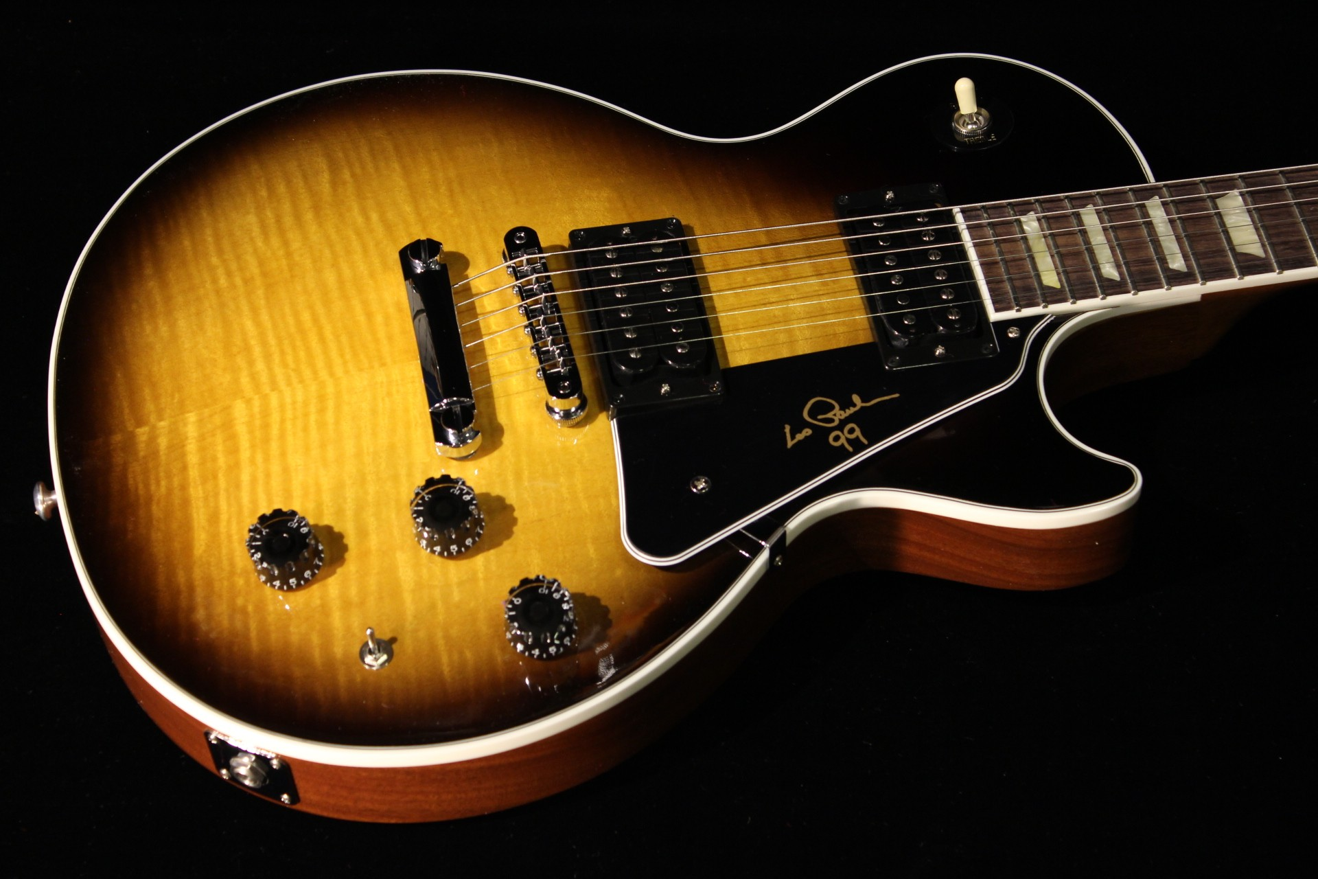 gibson les paul signature 2014 vintage sunburst sn 140057803 gino guitars. Black Bedroom Furniture Sets. Home Design Ideas