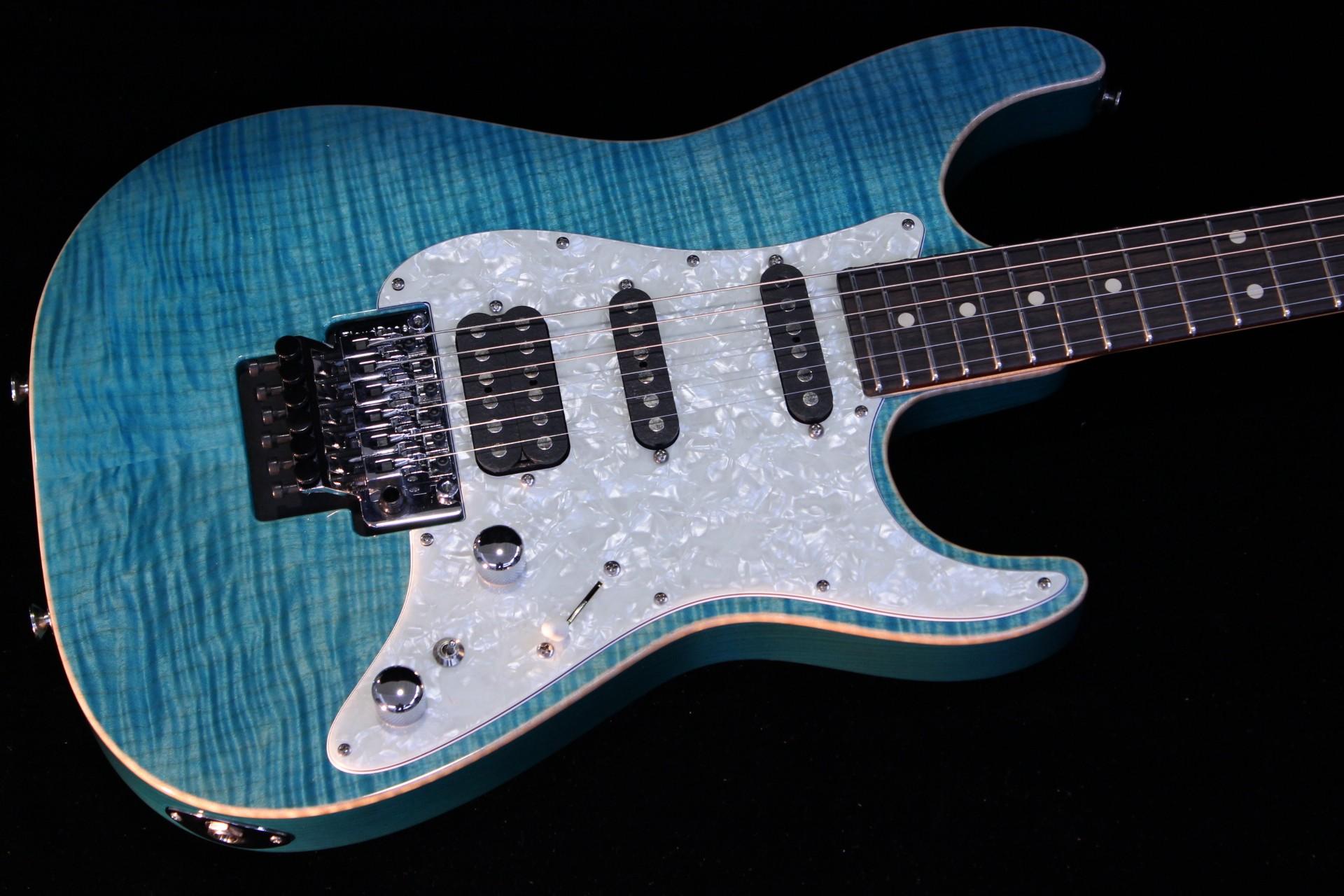 tom anderson drop top classic bora bora blue sn 04 18 14p gino guitars. Black Bedroom Furniture Sets. Home Design Ideas